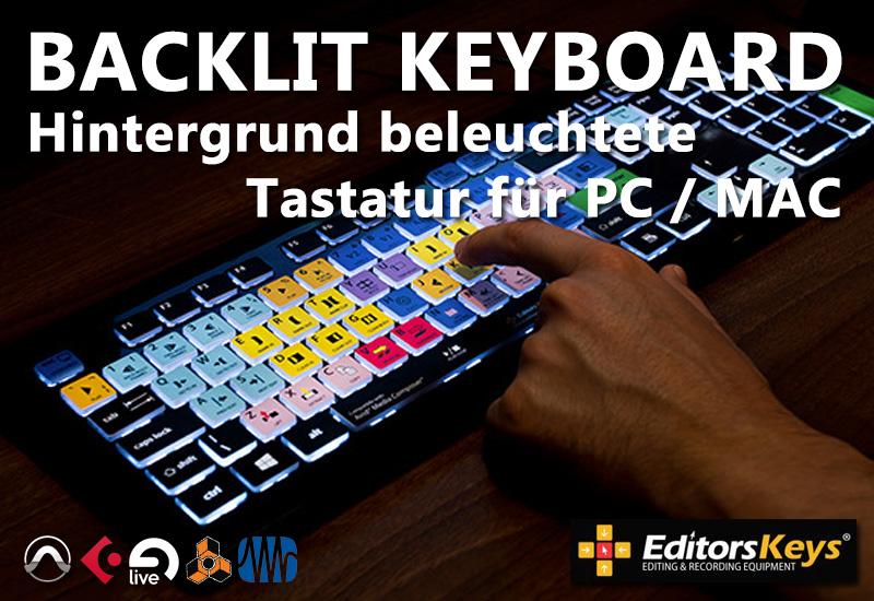 EditorsKeys LED BACKLIT Editor Tastatur