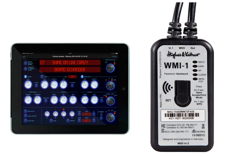 Musikmesse 2015 – HUGHES & KETTNER WMI-1 Wireless Midi Interface