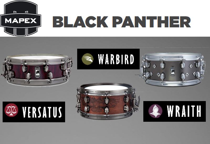 Musikmesse 2015 – 3 neue MAPEX Black Panther Snare Drums