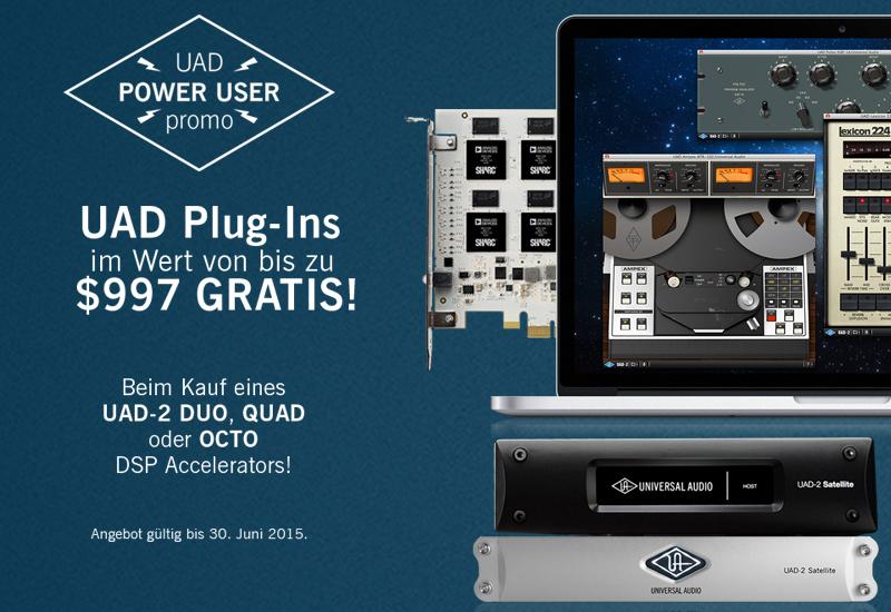 UAD-2 Power User Promotion: Plug-Ins im Wert von bis zu $997 GRATIS