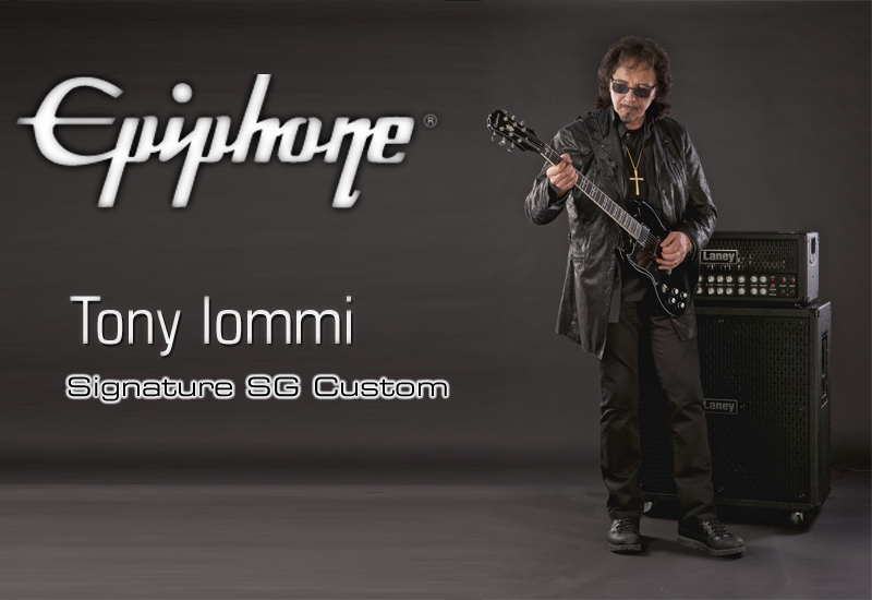Summer NAMM 2015 – EPIPHONE Ltd. Ed. Tony Iommi Signature SG Custom