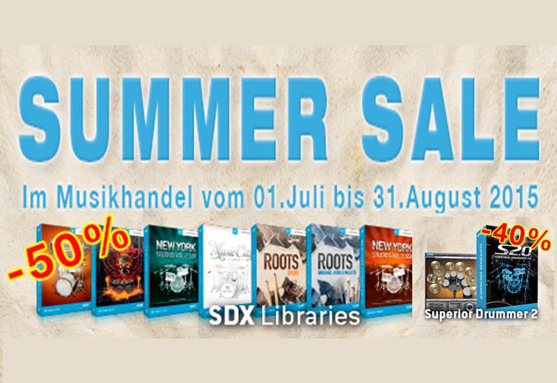 Toontrack Summer Sales: Superior Drummer 2.0 und SDX Erweiterung* viel günstiger