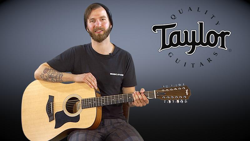 Taylor 150e 12-Saiter Gitarre im Video-Test