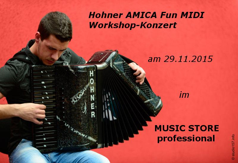 Hohner AMICA Fun MIDI Workshop-Konzert am 29.11.2015