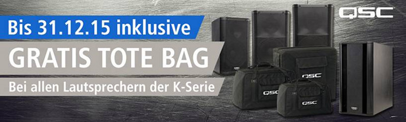 QSC K-Serie Tote Bag Promo Deal
