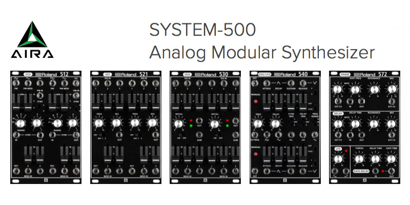 ROLAND SYSTEM-500 Analog Modular Synthesizer Serie