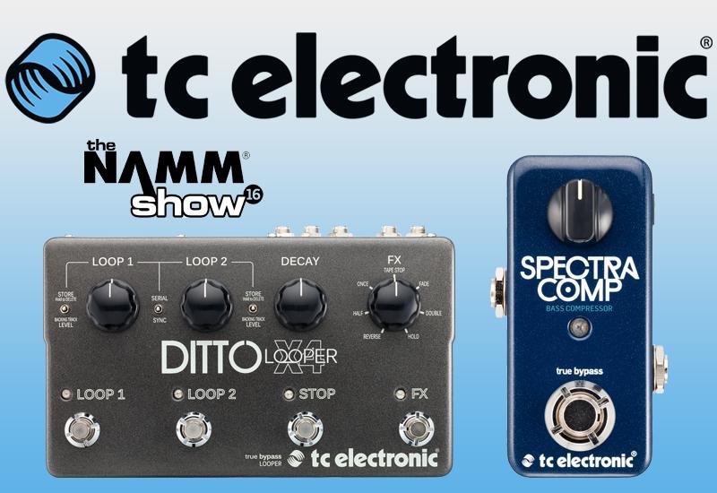 NAMM Show 2016 –  Neuheiten von TC Electronic
