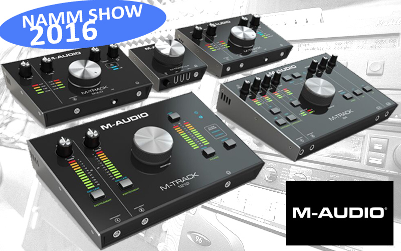 NAMM SHOW 2016: M-Audio stellt neue Audio Interfaces vor