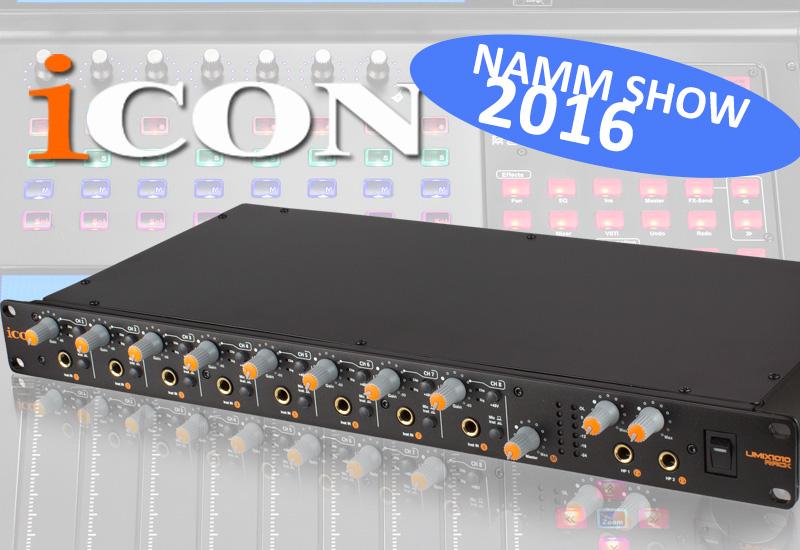 NAMM SHOW 2016: ICON USB Audio Interface UMix1010 Rack