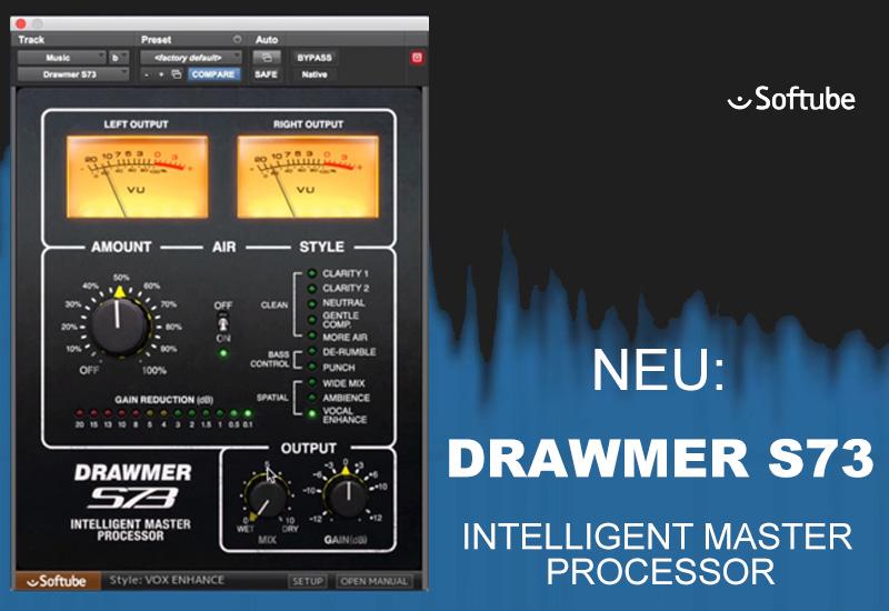 NEWS: Softube veröffentlicht DRAWMER S73 Intelligent Master Processor