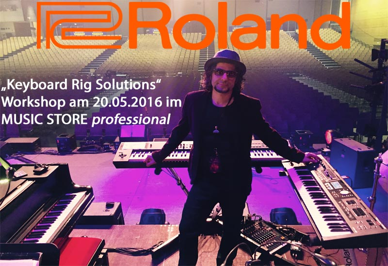 """Roland Synthesizer Live Rig""-Workshop mit Jimmy Kresic!"