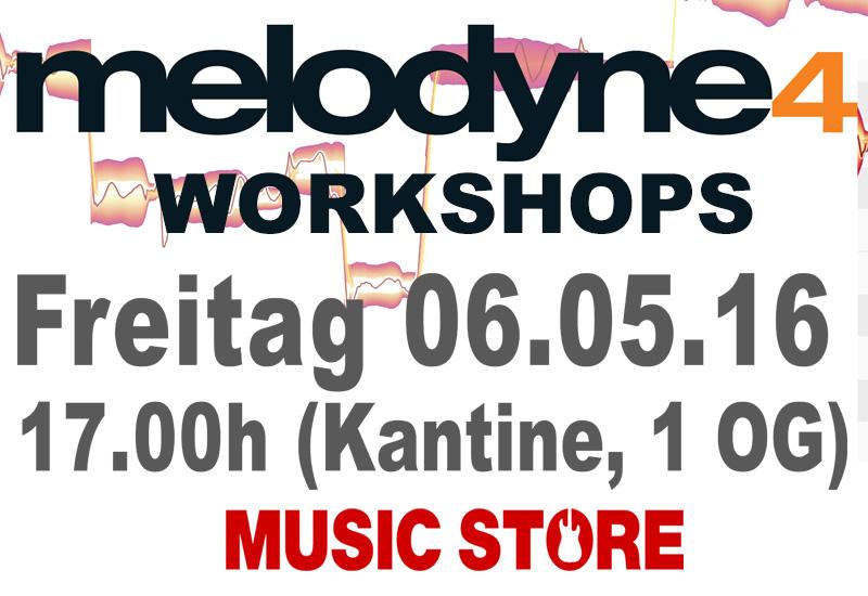WORKSHOP: Celemony Melodyne 4 am 06.05.16 17h bis 18:30h