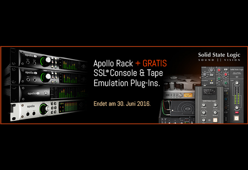 APOLLO RACK PROMO MIT GRATIS SSL, ECHO & TAPE PLUG-INS