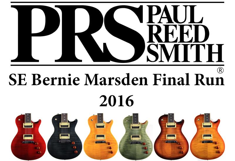 PRS SE Bernie Marsden: Bernie's Final Run 2016