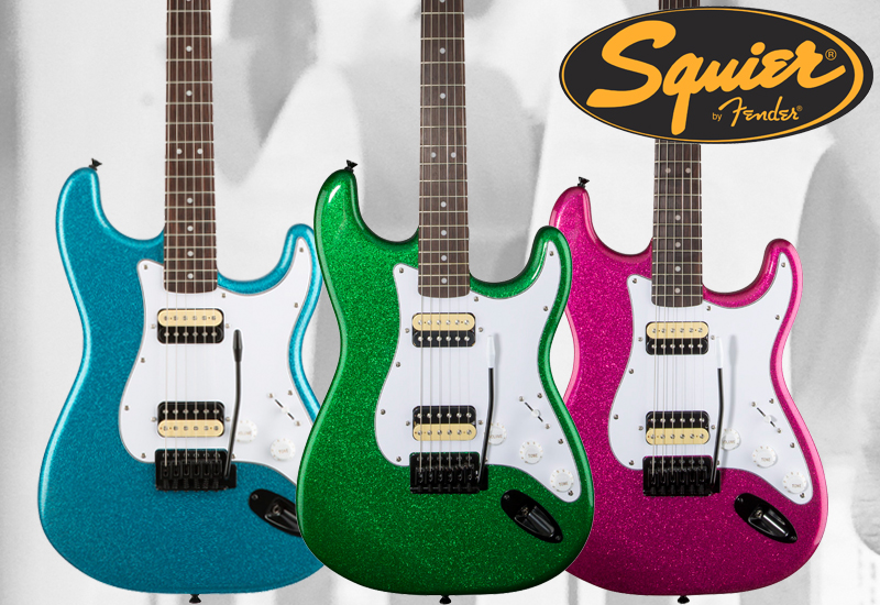 SQUIER Affinity Series Stratocaster Factory Special Run in drei knalligen Sparkle Finishes!