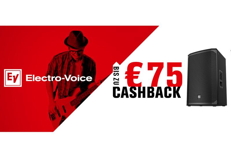 Electro-Voice CASHBACK Promo – 1. Juli bis 1. September 2016