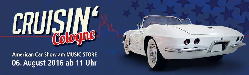 Crusin' Cologne 2016: US-Cars-Treffen beim MUSIC STORE professional