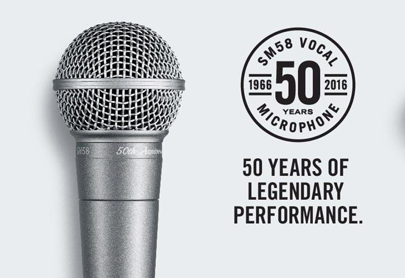 DIE Legende unter den Gesangsmikrofonen – das Shure SM58 feiert 50. Geburtstag mit der SM58-50A Jubiläums Edition!