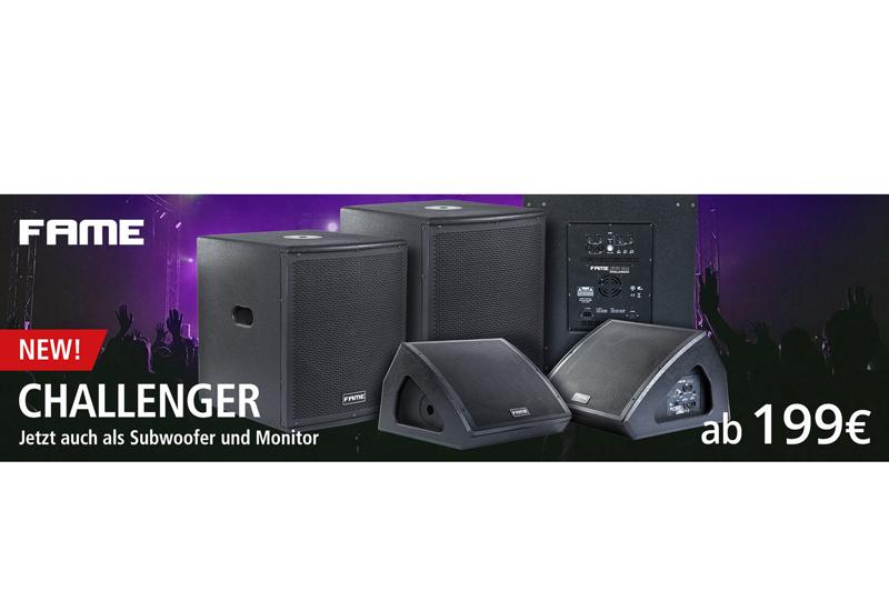 Fame audio Challenger Subwoofer und Bühnenmonitore – Fame audio erweitert seine überaus erfolgreiche Challenger Serie!