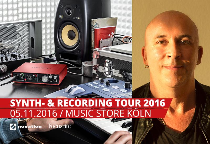Novation & Focusrite Synth- & Recording-Tour 2016