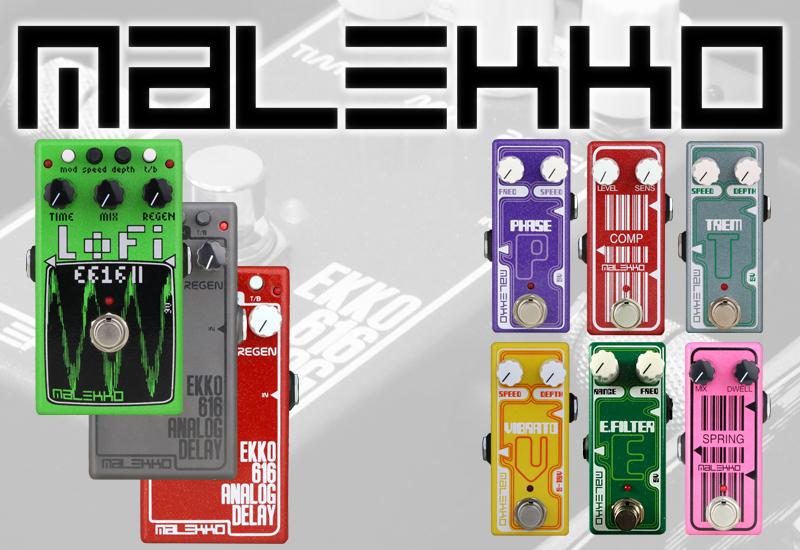 Malekko Effektpedale für Gitarre und Bass, jetzt im MUSIC STORE!