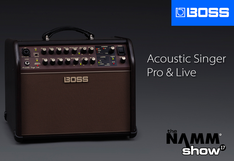 NAMM SHOW 2017 – BOSS präsentiert die Acoustic Singer Serie