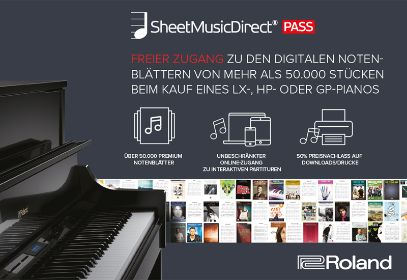 Roland Sheet Music Direct 3 Monate kostenlos