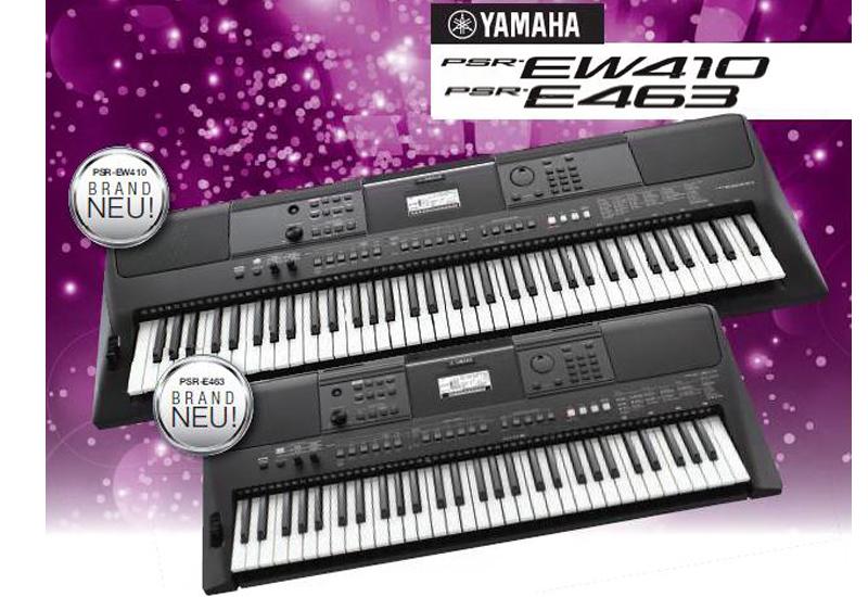 namm show 2018 yamaha psr e463 und psr ew410 keyboards. Black Bedroom Furniture Sets. Home Design Ideas