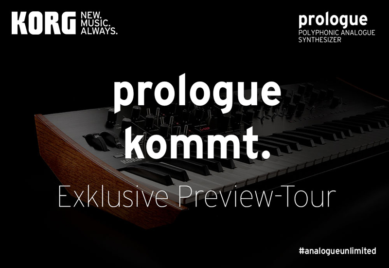 KORG prologue Preview-Tour am 9. März 2018 um 15.00 Uhr