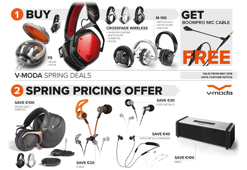 V-MODA Spring Deals 2018!
