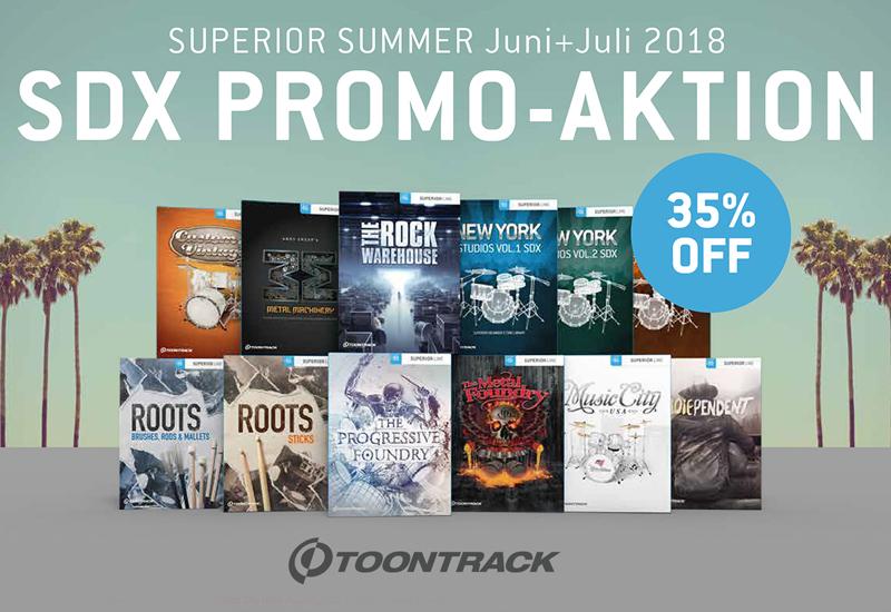TOONTRACK SDX Promo-Aktion bis Ende Juli