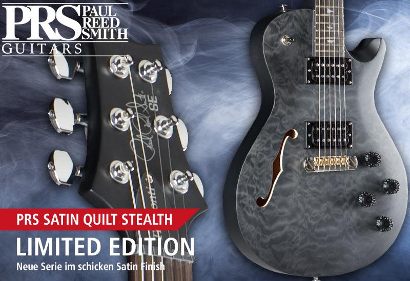 Neue Satin Quilt Stealth Serie von PRS