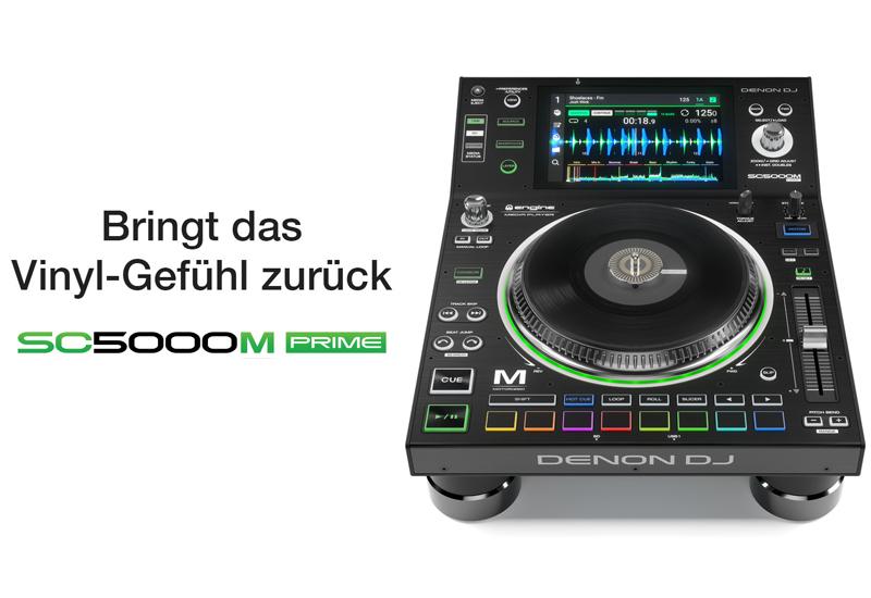DENON DJ stellt den SC5000M Prime mit motorisiertem Plattenteller vor!