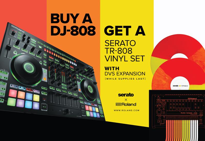 ROLAND 808-DAY – DJ-808 + Serato TR-808 Vinyl-Pressung & DVS Expansion Pack!