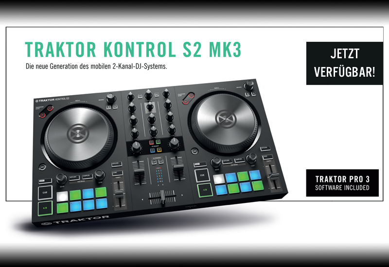 NATIVE INSTRUMENTS – TRAKTOR Kontrol S2 MK3 – Jetzt verfügbar!