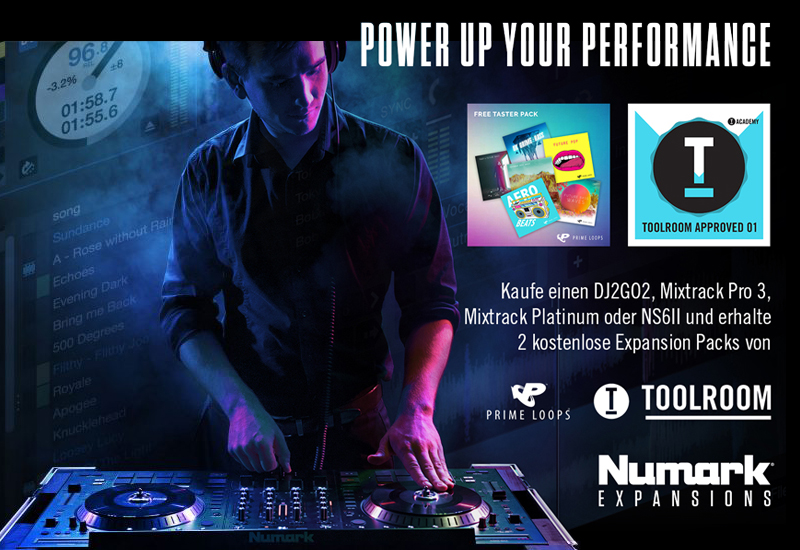 NUMARK verschenkt Toolroom- & Prime Loops-Sample-Pack!