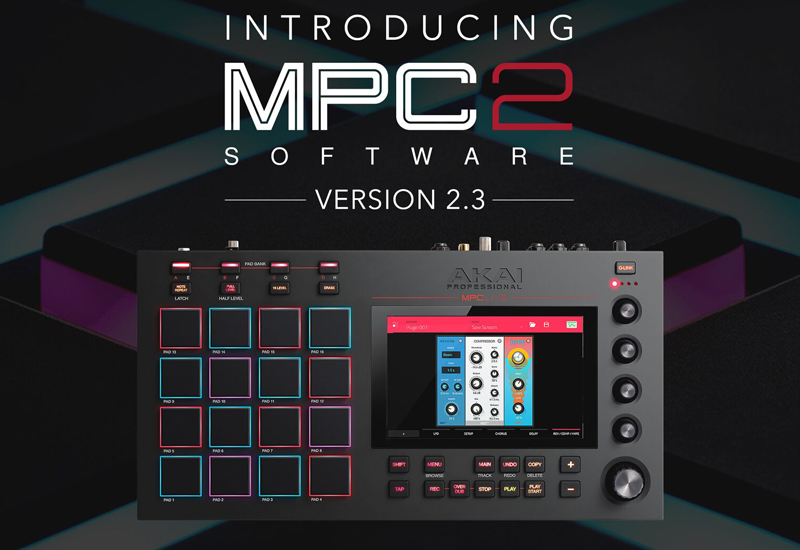 OS 2.3 Update für AKAI MPC X und MPC Live