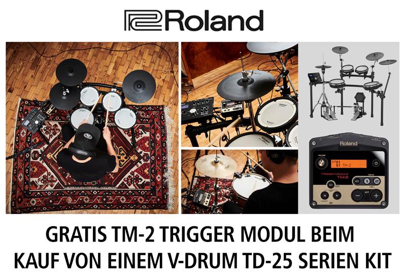 Kostenloses Roland TM-2 Trigger-Modul beim Kauf eines V-Drums TD-25K/KV/KVX