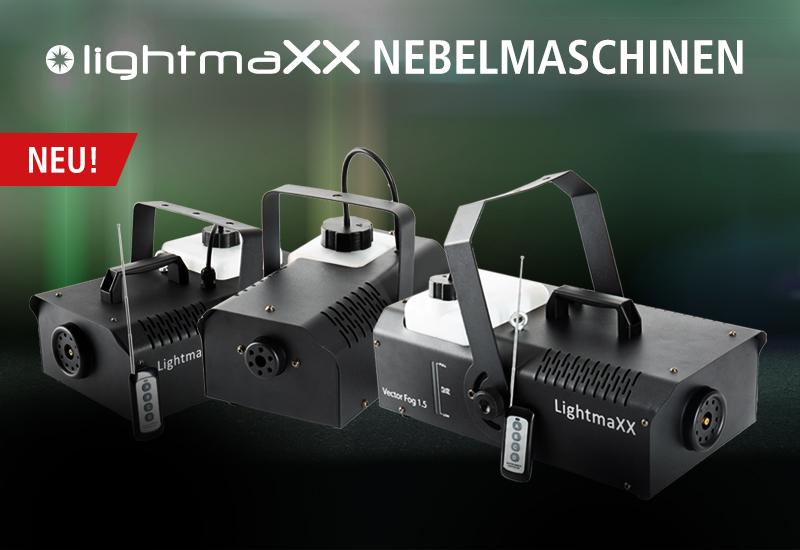 Neue lightmaXX Nebelmaschinen