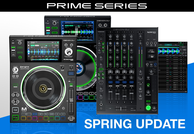DENON DJ – Wichtige Updates für Engine Prime Software, SC5000/M Media Player und X1800 Mixer