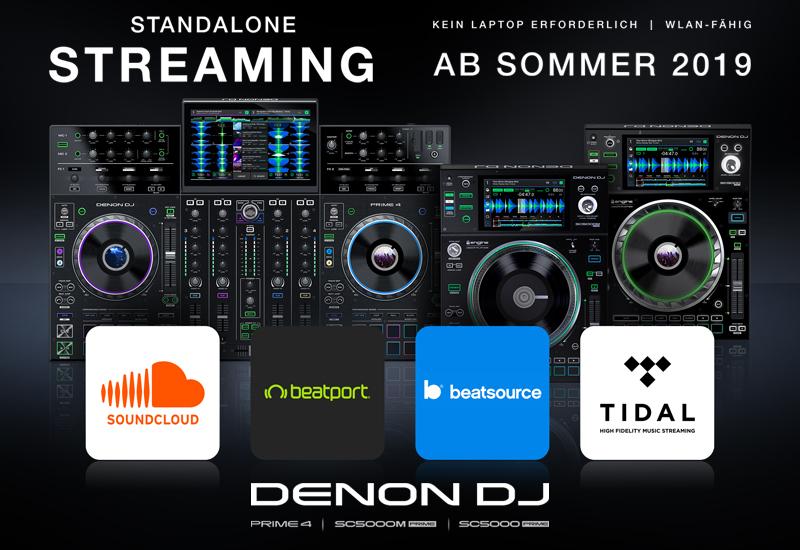 DENON DJ präsentiert die Integration von Musik-Streaming in Standalone DJ-Hardware