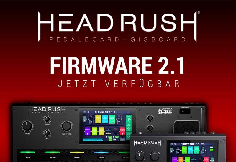 HEADRUSH veröffentlicht Firmware-Update 2.1