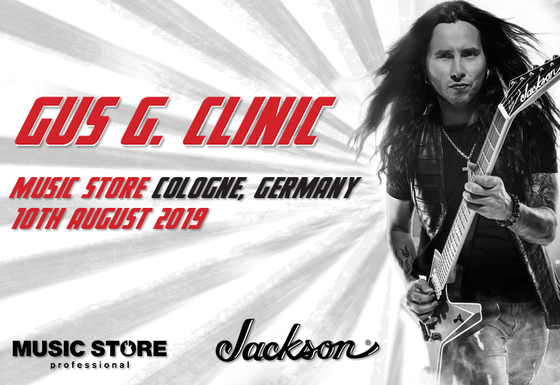 Gus G. Clinic am 10. August im MUSIC STORE