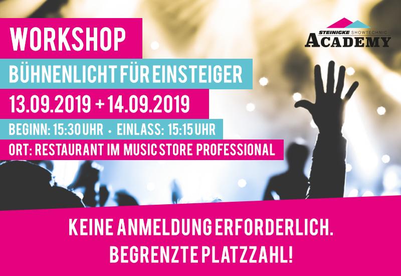 Kostenloser Workshop im MUSIC STORE: Bühnenlicht für Einsteiger