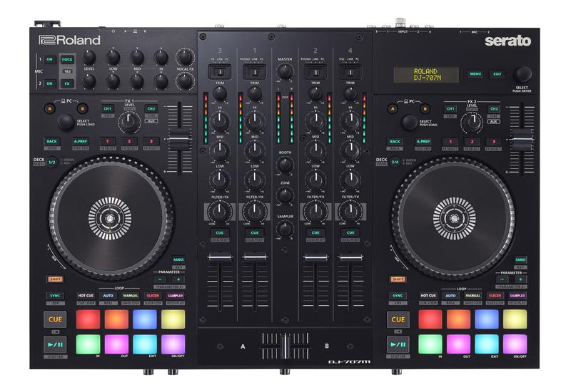 ROLAND stellt den DJ-707M 4-Kanal-Serato-DJ-Pro-Controller vor!