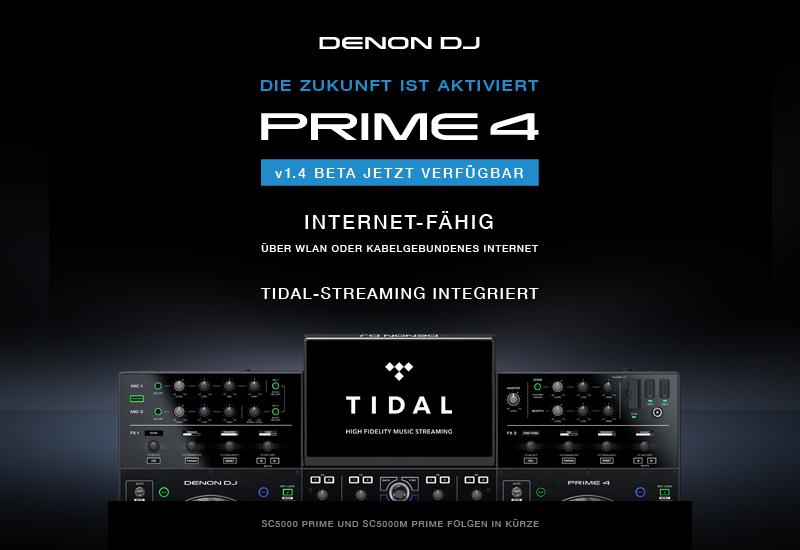 DENON DJ – PRIME 4 – Firmware-Update V1.4