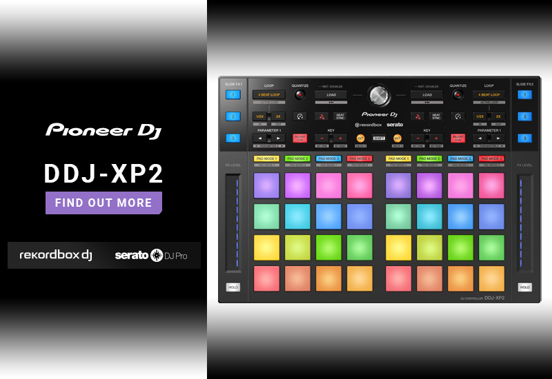 PIONEER DJ – DDJ-XP2 – Add-On-DJ-Controller für rekordbox DJ & Serato DJ Pro