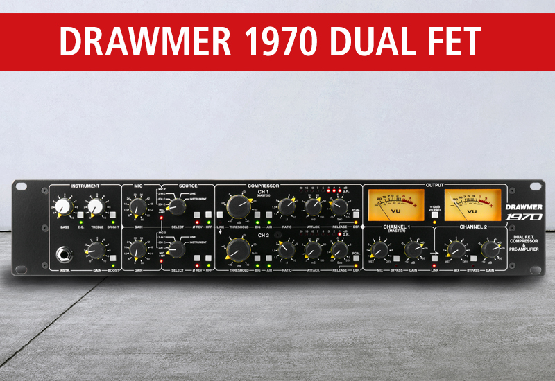 DRAWMER 1970 DUAL FET COMPRESSOR & PRE-AMPLIFIER