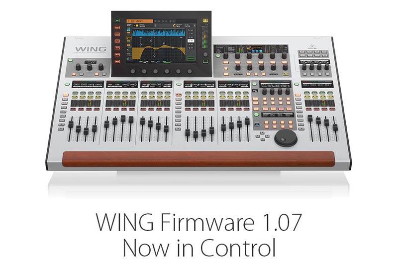 Behringer WING Firmware 1.07 verfügbar!