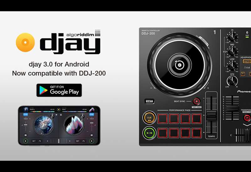Algoriddim djay 3.0 für Android ist jetzt mit dem DDJ-200 kompatibel!